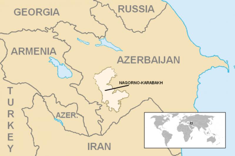 納哥諾卡拉巴克(Nagorno-Karabakh)(Wikipedia / Public Domain)