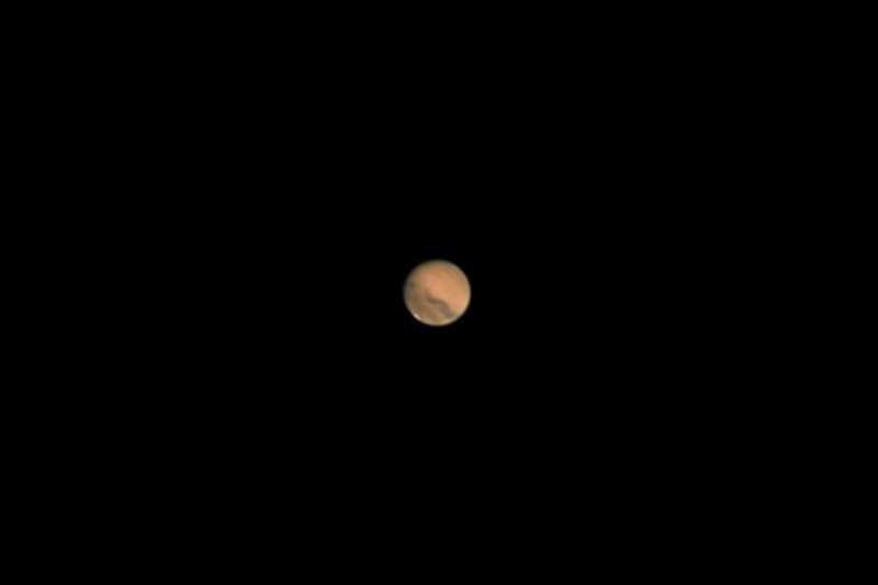 南瀛天文館指出,「火星衝」每2年49天出現1次,14日為最佳觀看時機。(南瀛天文館提供)