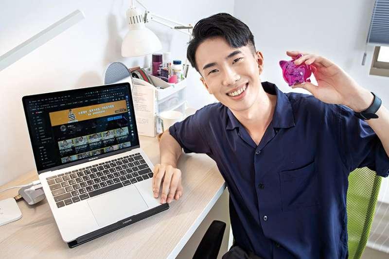 理財YouTuber李勛(Shinli)透過這「4方法」成功存到人生第一桶金。(圖/Money錢提供)