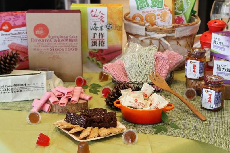 20201013-雄獅跟農委會一起推廣台灣百大農業精品,賣起台灣特色伴手禮。(雄獅旅遊提供)