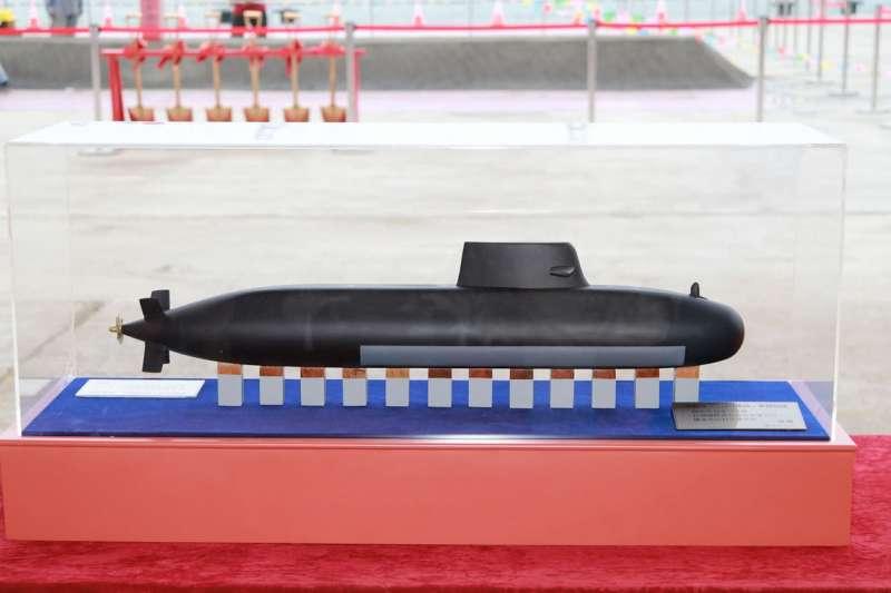 台船潛艦國造專用廠房去年5月由總統蔡英文主持動土典禮,即將於11月3日落成。(翻攝自中華民國海軍臉書)
