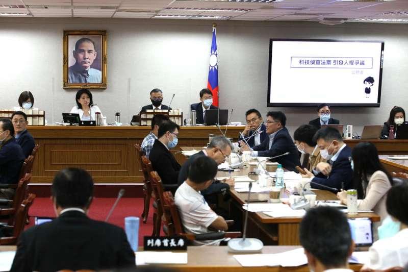法務部九月初推《科偵法》草案後,立委屢屢召開公聽會抨擊。(柯承惠攝)