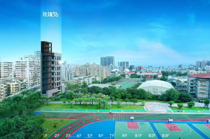 """中遠建築在新北市三重區推出 """"玫瑰3米6""""預售案。(圖/業主提供)"""