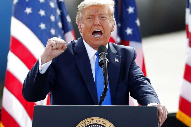 台灣又創下一項紀錄─全球最大川粉。圖為美國共和黨總統候選人川普。(美聯社)