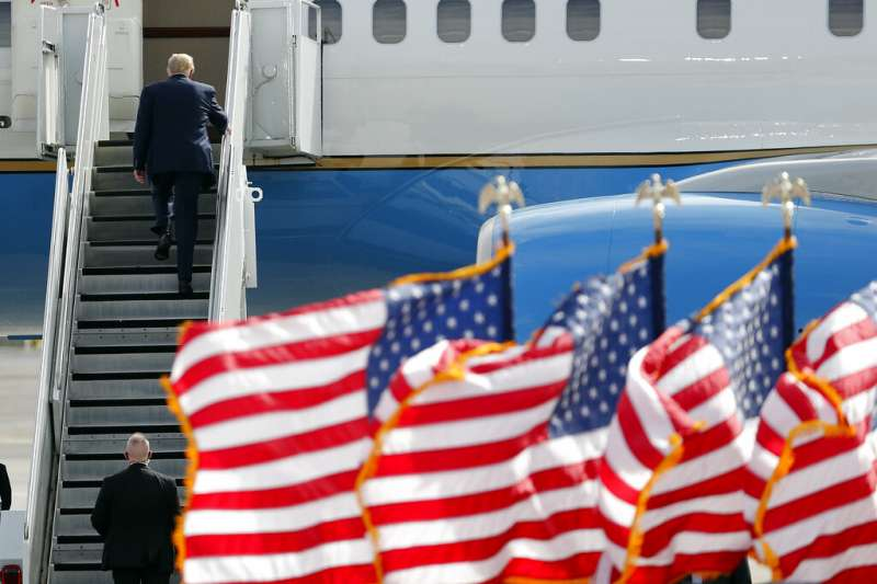 美國共和黨總統候選人川普。(美聯社)