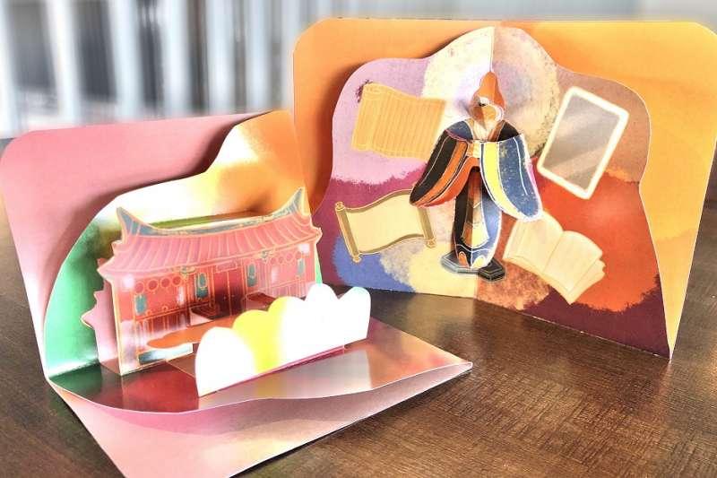 藝術家賴冠傑讓文昌祠和至聖先師的故事躍然紙上。(圖/新北市文化局提供)