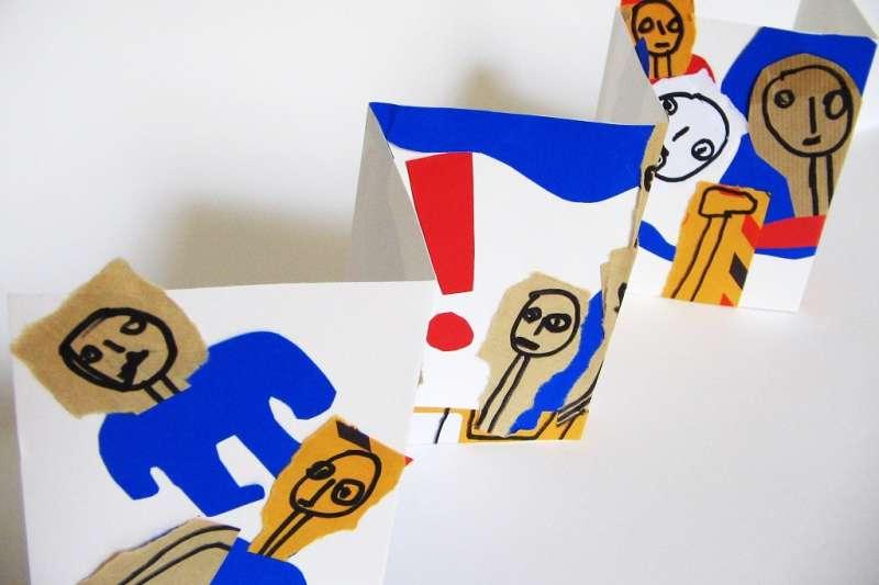 法國藝術家Gérald Ciolkowski以再生材質再製手工書現場分享與教學。(圖/新北市文化局提供)