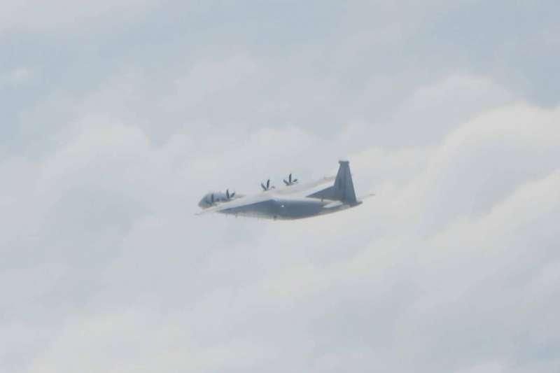 20日現蹤的3型共機中,通9通信對抗機是官方首次公布。(空軍司令部提供)