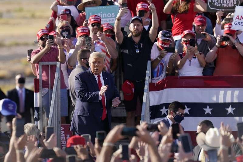 2020年10月19日總統川普出席亞利桑那州(Arizona)競選活動(AP)