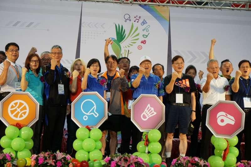第38屆全國地政盃活動22日在新竹縣立體育館正式開幕。(圖/新竹縣政府提供)