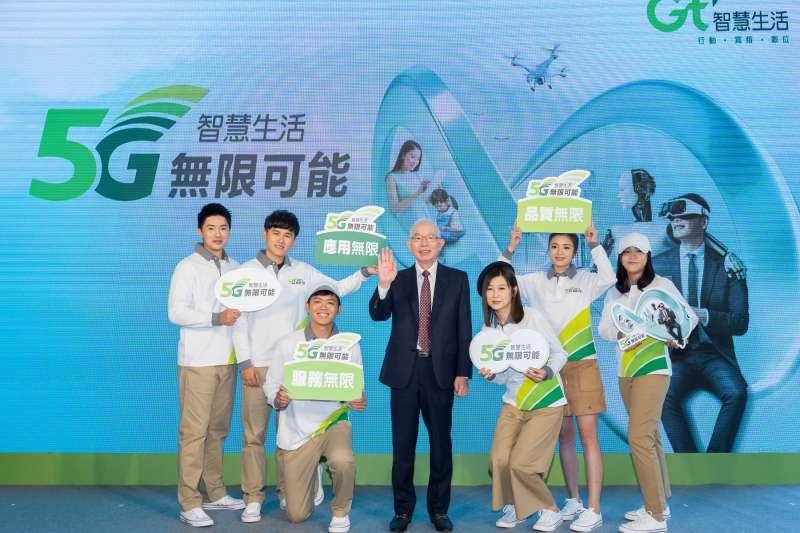 亞太電信於今日舉行5G啟動營運記者會,並且揭櫫全新企業識別「5G智慧生活 無限可能」。(亞太電信提供)