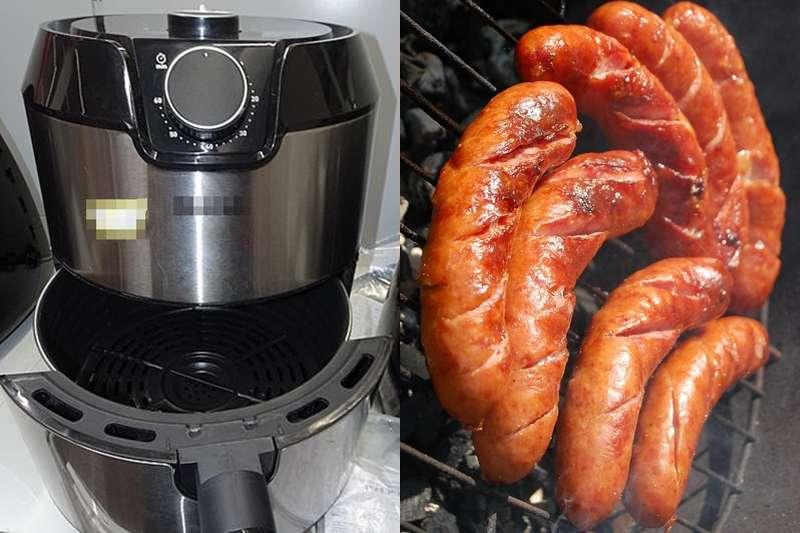 用氣炸鍋煎香腸油煙竟比用油鍋高出13倍!(圖/pixabay)