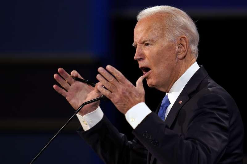 2020年10月22日民主黨總統候選人拜登出席美國大選最終場辯論會(AP)