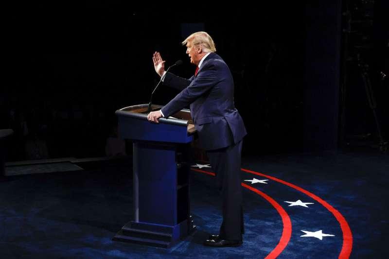2020年10月22日總統川普出席美國大選最終場辯論會(AP)