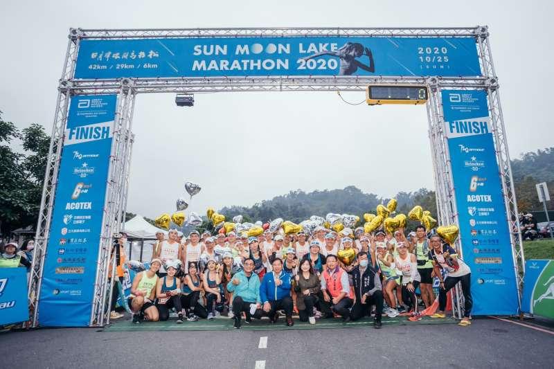 日月潭環湖馬拉松賽25日舉行,吸引三千多名選手參與。(圖/日月潭風管處提供)
