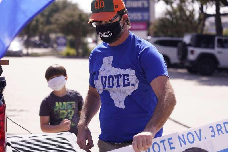 2020美國總統大選:德州民主黨支持者(AP)