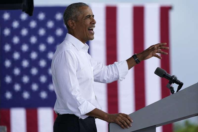 2020美國總統大選:前總統歐巴馬在佛羅里達州為民主黨候選人拜登拉票(AP)