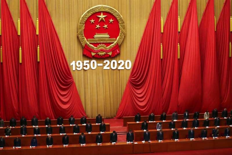 北京人民大會堂。(美聯社)