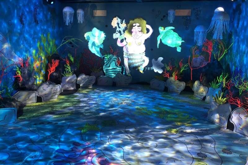 海妖的美人魚夢,讓大家一起變成童話世界的美人魚。(圖/桃園市政府提供)