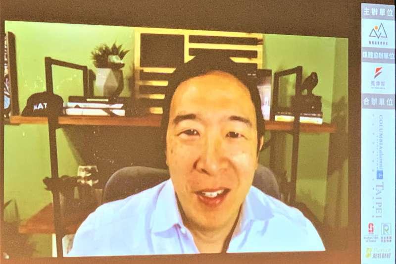 N3論壇:台裔美國創業家、民主黨前總統初選參選人楊安澤(簡恒宇攝)