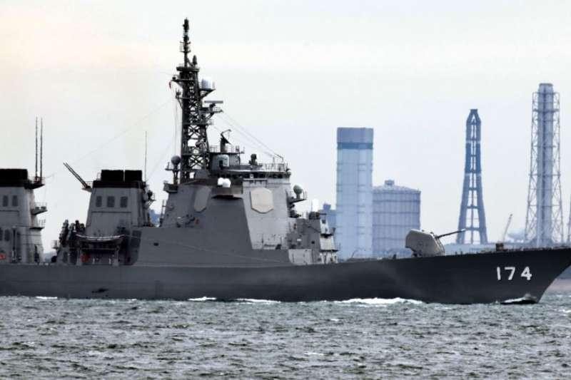 日本海上自衛隊霧島號神盾驅逐艦。(美聯社)