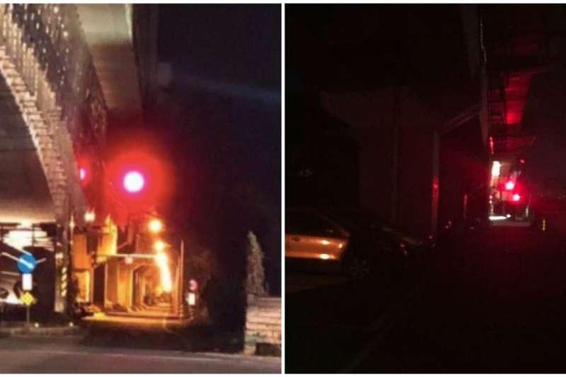 長榮大學1名馬來西亞女學生在台南市歸仁區遭到擄殺,遺體遭凶嫌棄屍於高雄市阿蓮區大崗山。圖為女大生遇害便道,近日已經從原先昏暗狀況(右)改善為「燈火通明」(左)。(取自DCard/合成:風傳媒)