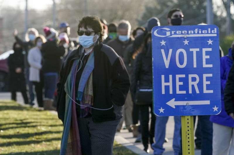 2020年11月3日,美國總統與國會大選投票日,威斯康辛州(AP)