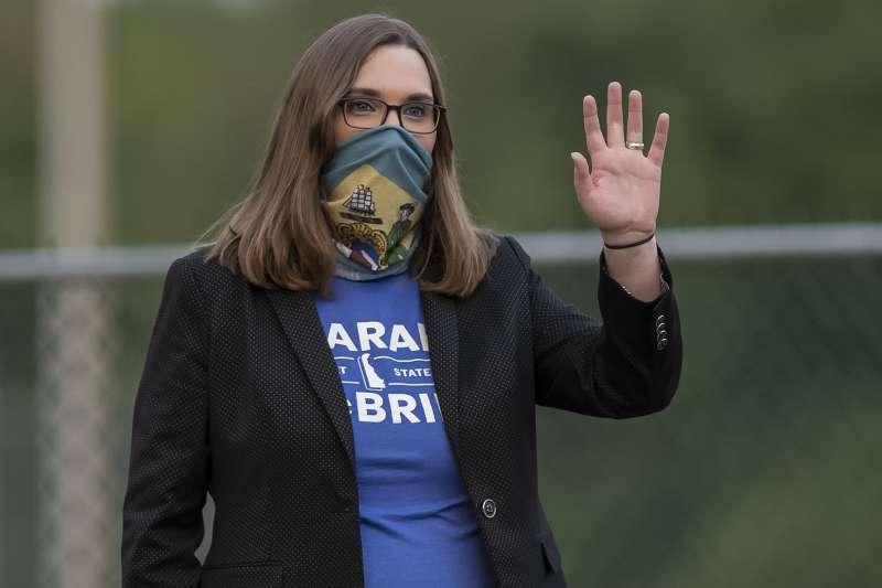 跨性別者麥克布萊德(Sarah McBride)3日贏得美國德拉瓦州參議院席位,成為美國史上第一位公開的跨性別州參議員(AP)