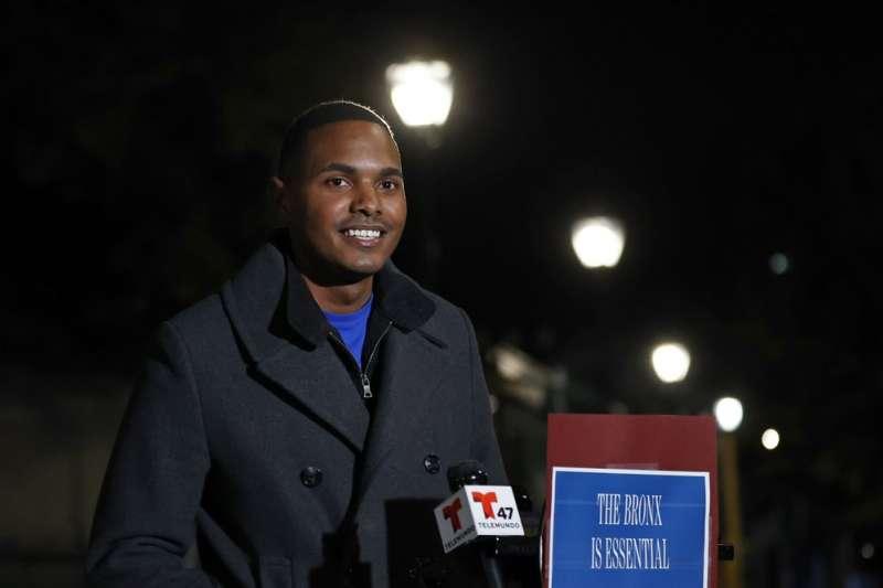 美國紐約市議會同性戀非裔議員托雷斯在這次大選當選為聯邦眾議員(美聯社)