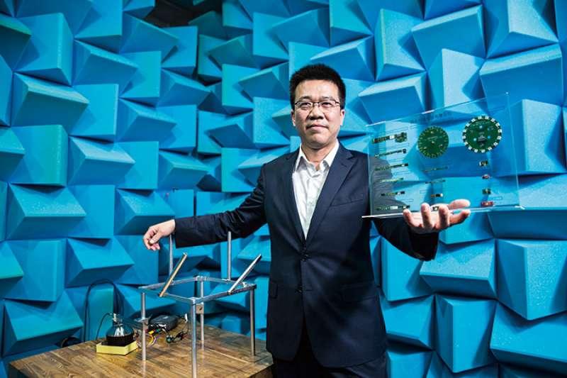 鈺太MEMS雙跨PS5、TWS,成長動能強勁。圖為鈺太董事長邱景宏。(攝影/陳弘岱,今周刊提供)