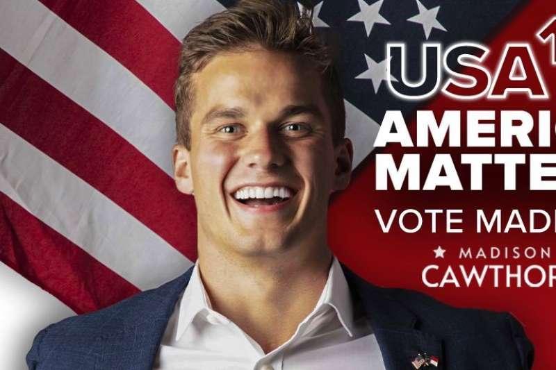 美國聯邦眾議院選舉:25歲的考托恩(Madison Cawthorn)成為史上最年輕的共和黨眾議員。(取自Twitter@CawthornforNC)