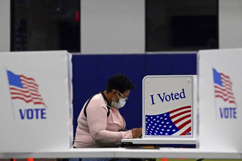密蘇里州堪薩斯市的民眾正在投票。(美聯社)