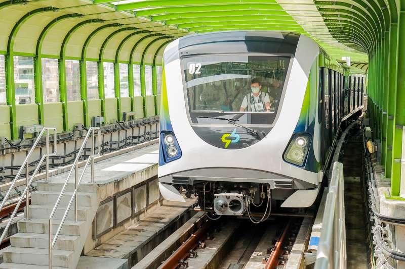 台中捷運綠線試營運期間發現六輛列車軸心連結器有問題,通車將延到明年二月以後。(圖/臺中市政府提供)
