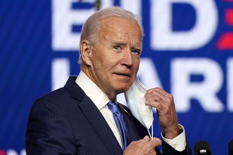 2020年美國總統大選陷入膠著,民主黨候選人拜登11月6日晚間發表談話(AP)