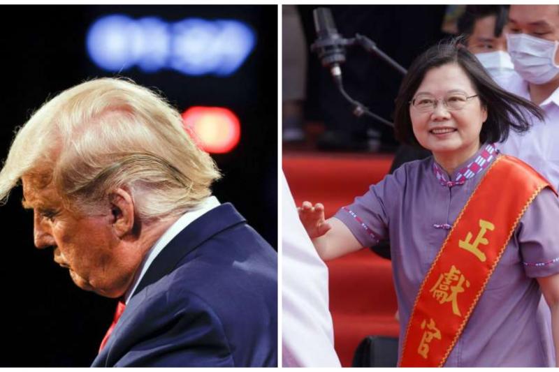 國民黨前立委孫大千8日認為,總統蔡英文與川普的總統大選,存在著5個「驚人的巧合」。(美聯社、盧逸峰攝/合成:風傳媒)