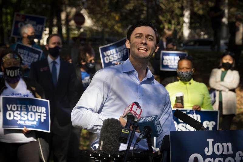 2020年美國大選,喬治亞州參議員選戰,民主黨籍候選人歐索夫(Jon Ossoff)(AP)