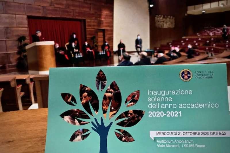 義大利羅馬宗座大學聖安東尼大學的開學典禮 (曾廣儀攝)