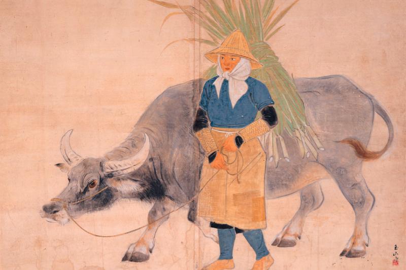 林玉山作品《歸途》,1944(台北市立美術館)