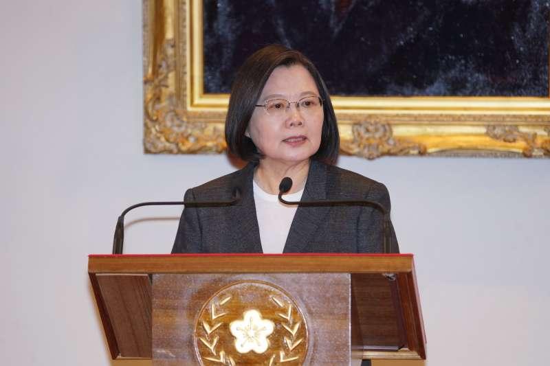 20201110-總統府10日舉行「APEC領袖代表發布記者會」,總統蔡英文出席。(盧逸峰攝)
