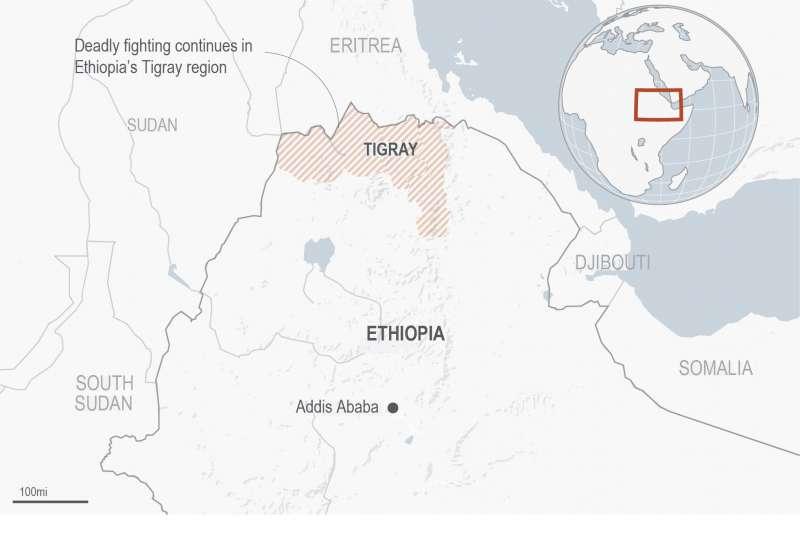 2020年衣索比亞與提格雷自治政駁火衝突,恐將演變為內戰。(AP)