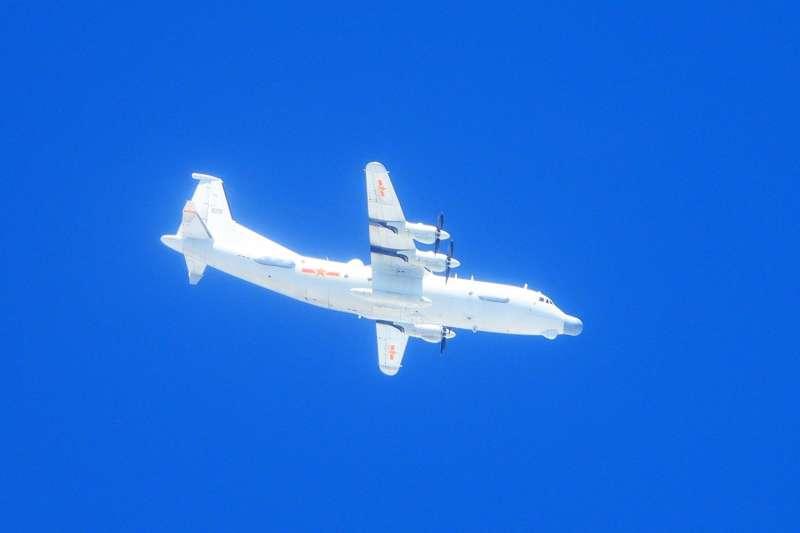 運8技偵機11日自中國東南沿岸進入我西南防空識別區後飛出。(空軍司令部提供)
