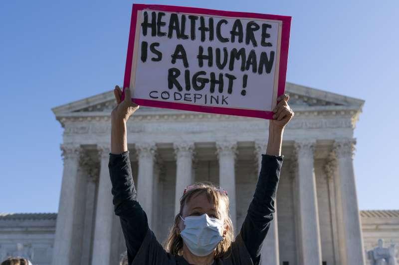 美國聯邦最高法院審議歐巴馬健保存廢(AP)