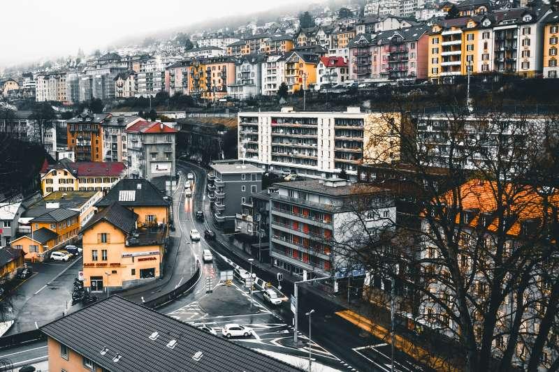 瑞士地景 寒冬 城市