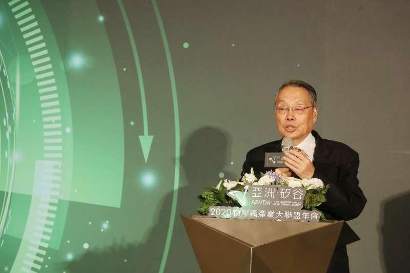 2020亞洲˙矽谷物聯網產業大聯盟13日舉行聯盟年會,宏碁集團創辦人施振榮致詞。(柯承惠攝)