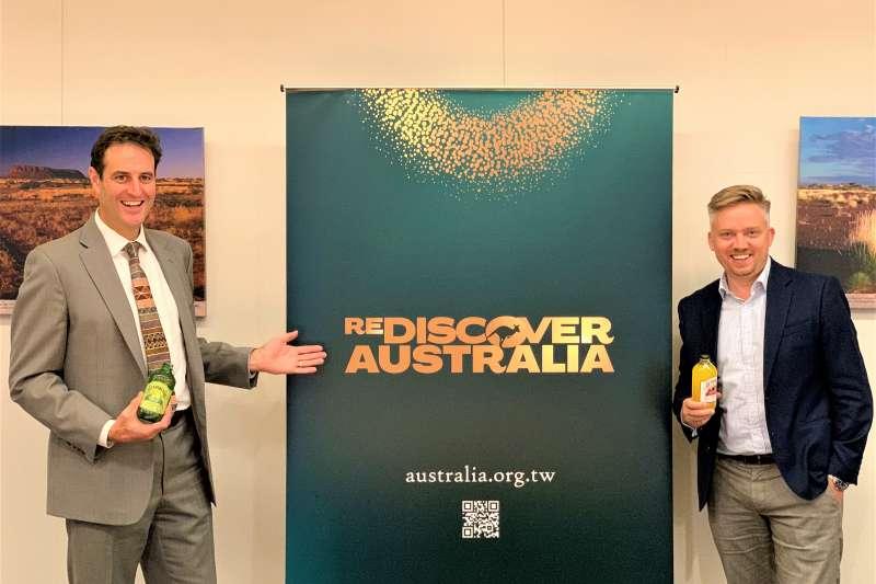 澳洲駐台代表高戈銳和副代表莫博仁(簡恒宇攝)