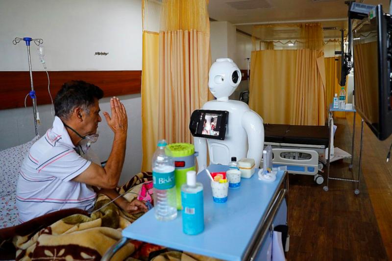 印度幾間醫院日前設置了防疫機器人,減少醫護人員與患者之間的接觸。(截自Invento Robotics官網)