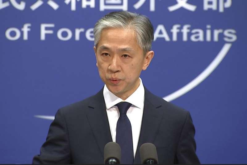 中國外交部發言人汪文斌。(美聯社)