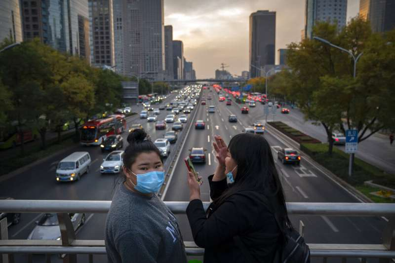 北京一景。(美聯社)