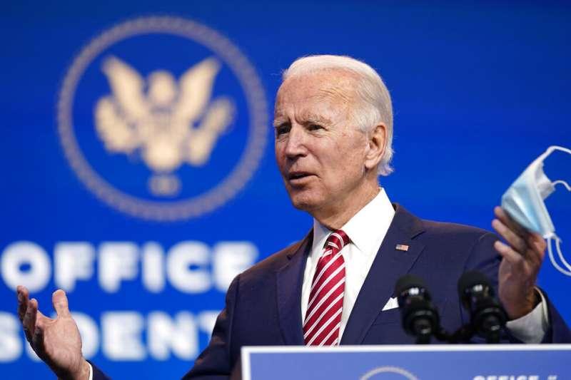 即將在明年一月二十日上任的美國候任總統拜登。(美聯社)