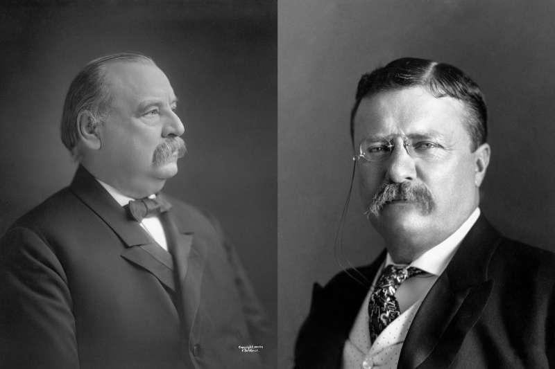 克里夫蘭(Grover Cleveland,左)與羅斯福(Theodore Roosevelt)都曾在卸任美國總統之後再度投入選戰(Wikipedia / Public Domain)